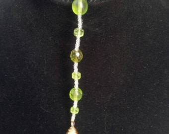 Green Rearview Mirror Glass Charm