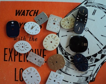 Watch dial faces for steampunk, industrial, assemblage and altered art pieces.  e 463