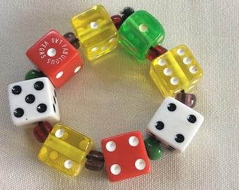 Viva Las Vegas Dice Bracelet