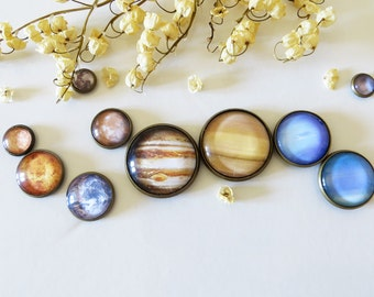 Planet Magnets, Solar System Magnets, Planets Fridge Magnets, Space Magnet, Planets Home Decoration, Solar System Decoration, Galaxy Magnets