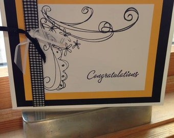 Congratulations in Handmade cards