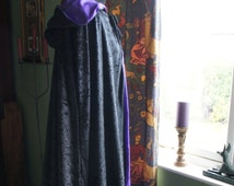 Classic Hooded Cloak, Witch, medieval, wicca, goth. One size to order