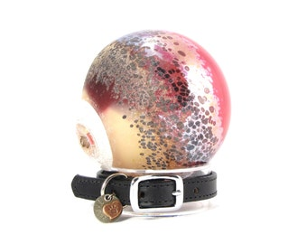 Cremation Ash Memorial For Pets - Blown Glass Jewelry made w/ Pet Ashes - Strawberry Shortcake