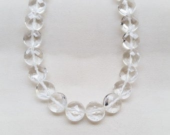 Crystal Coin Faceted Beads