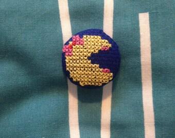 Mrs Pacman Button