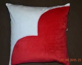 The beating heart - 18in x 18 in  Art Decorative Pillows cases -  Handmade