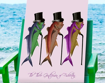Gentleman of Fisherton Fish Art Print - fish print fishing gift fishermans gift fish wall art fish Gifts for Men birthday gift for dad