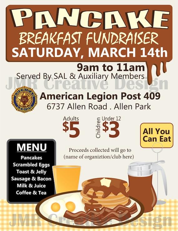 pancake breakfast fundraiser flyer all you by. Black Bedroom Furniture Sets. Home Design Ideas