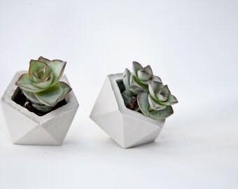 Concrete Geometric Original mini icosahedron vessel