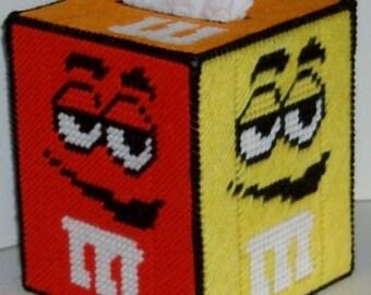 M & M's Boutique Size Tissue Box Cover