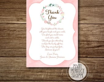 Baby Shower Thank You Card, or Baby Shower Hostess List, or Elegant Baby Shower Invitation, or Victorian Baby Shower