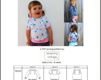 The Little Betty top (PDF pattern)