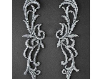 """12"""" Long Metallic Applique by pair, LP-MX-1307"""