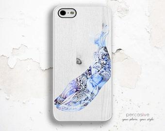 iPhone 6 Case Whale - iPhone 6 Plus Case Nautical, Summer iPhone 5 Case, iPhone 4 / 4s Case, Blue Whale iPhone 6 Case Wood Print :0982