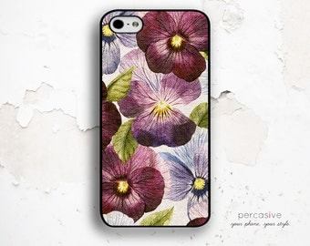 iPhone 6 Case Floral - iPhone 5s Cover, iPhone 5C Case Flower, iPhone 6 Plus Cover, Purple Flower iPhone 6 Case :1002