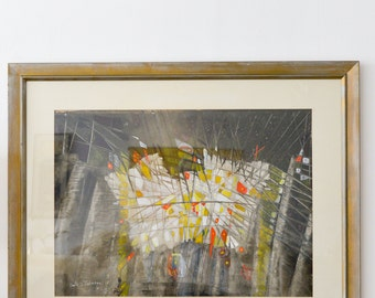Original Abstract Watercolor by Emily B. Johnson '61