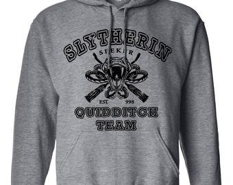 Slytherin Quidditch Harry Potter Geek Parody Unisex Pullover Hoodie Sweatshirt