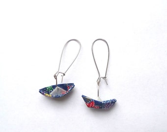 Origami Earrings Boats Indian Ocean