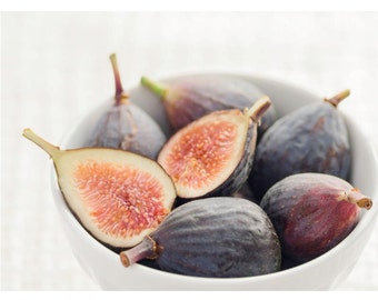 Bowl of Figs: blank photo greeting card of food photography. Wonderful as a thank you card.