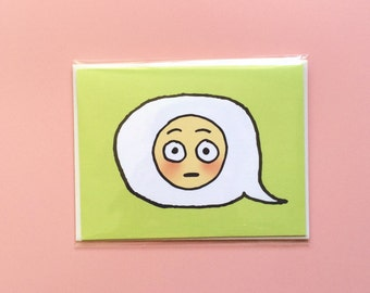 Emoji Cards! - Flushed Face