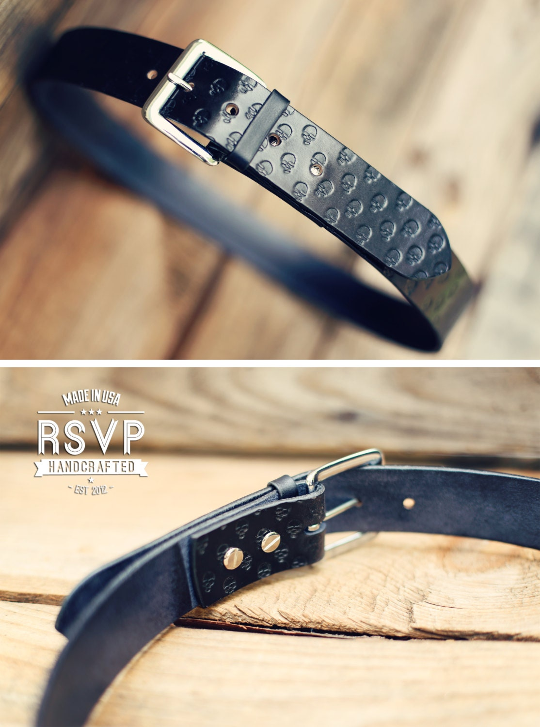 custom leather belt handmade personalized gift black stain
