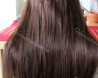 "20"" 200g SECRET-HALO-Magic wire Remy Human Hair extensionsGrade 4A !! Thick !! woww"