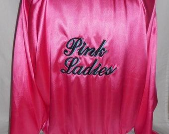 New women's ladies X large 1950's grease pink ladies sock hop jacket costume costumes