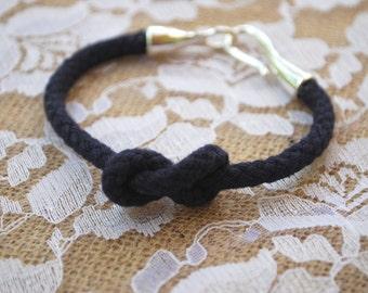 Navy Blue Knot Bracelet- Navy Blue Rope Bracelet - Nautical Knot Bracelet - Nautical Rope Bracelet - Figure Eight Knot Bracelet -Sailor Knot