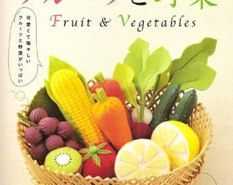 Felt Food Toys Pattern/Felt Fruits/Felt Veggetable/Felt Japanese eBook/Japanese Crafts eBook/Food Set Pattern/Japanese Felt eBook (FAB42)