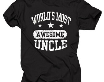 Gift For Uncle World's Most AWESOME Uncle T-Shirt Tee Shirt