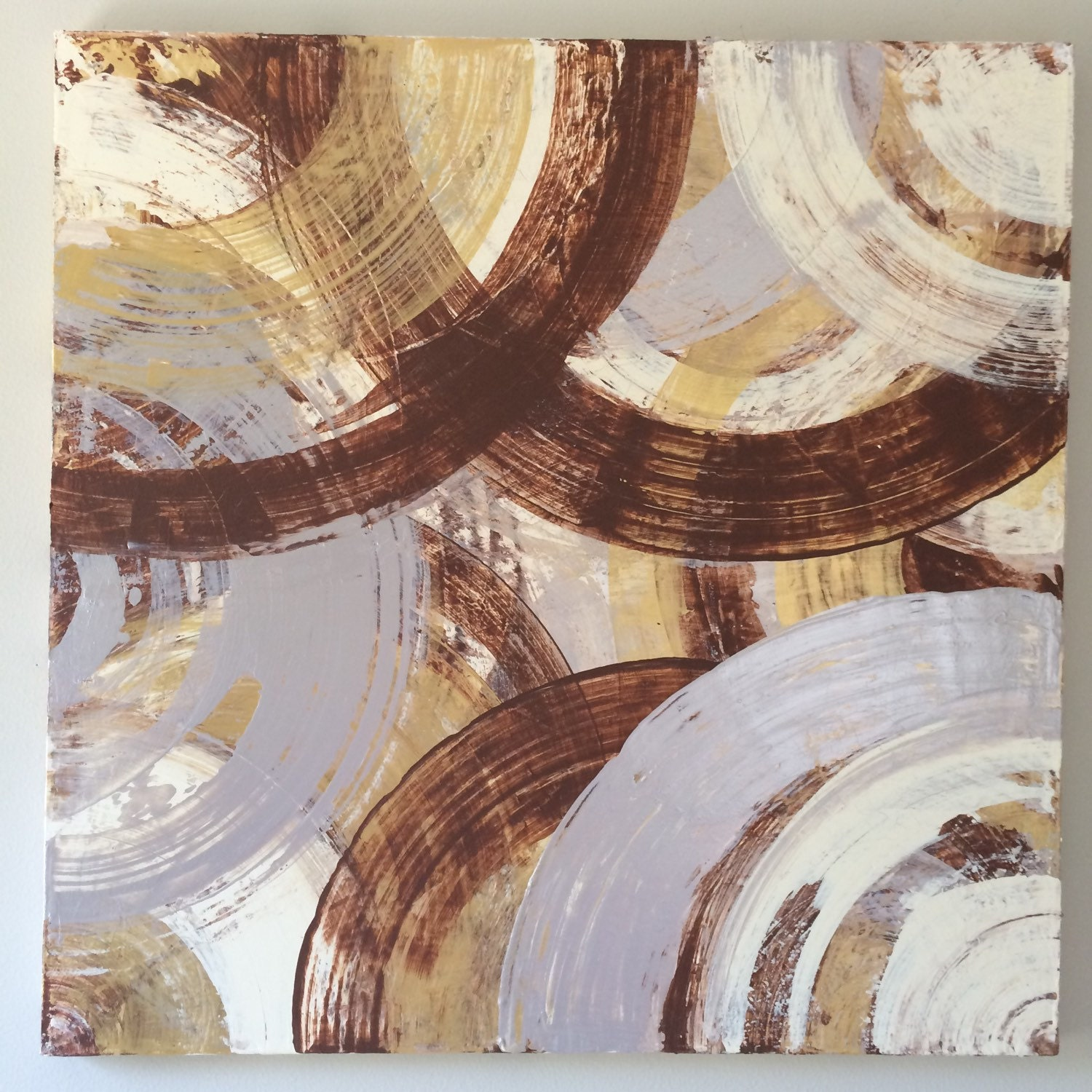 Abstract gold art geometric painting gold silver by for Gold paintings on canvas