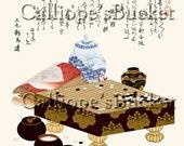 Go Game Set (surimono), Ukiyo-e woodblock print - this surimono print can be customized with your game.