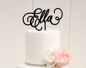 First Birthday Cake Topper - Name Cake Topper - Birthday Cake Topper
