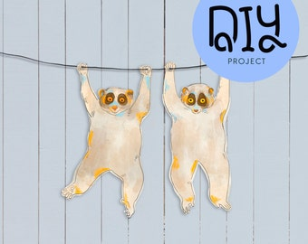 Slow loris garland DIY kit