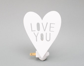 LOVEYOU night light in WHITE