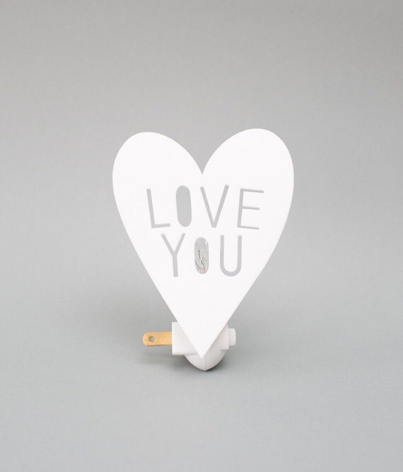 LOVEYOU night light in WHITE by HouseyHome on Etsy