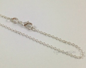 "Sterling Silver Filled 18"" Chain With .925 Stamp Lobster Claw Clasp"