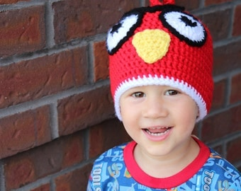 Angry Birds Crochet Hat, Angry Birds Winter Hat