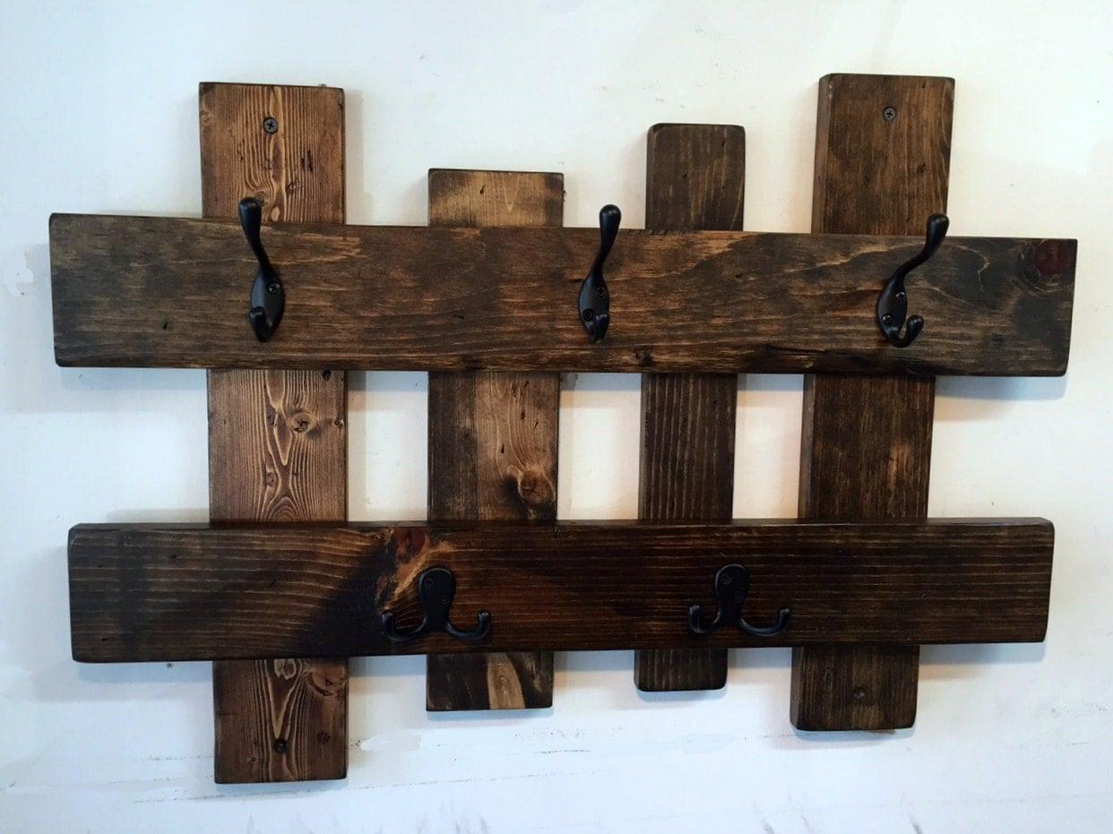 reclaimed wood coat rack entryway storage wall coat hook. Black Bedroom Furniture Sets. Home Design Ideas