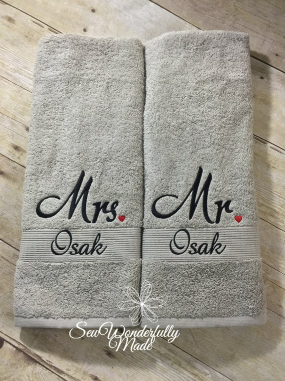 Mr And Mrs Wedding Gift Mr And Mrs Hand By SewWonderfullyMade4U