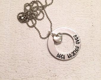 Teacher Gift - Teacher Necklace - Hand stamped teacher's gift - Gift for teacher - Hand stamped teacher gift - Personalized gift for teacher