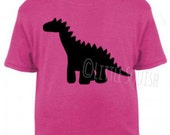 Children's unisex dinosaur t-shirt screen-printed by hand | Little Squish