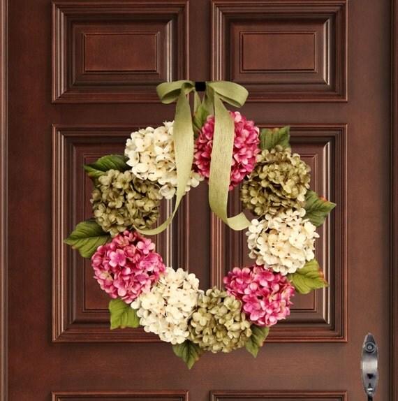 front door wreaths for summerWREATHS Summer Wreaths Front Door Wreaths Hydrangea