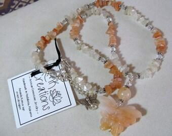 """Moonstone """"Peaches & Cream"""" Necklace"""