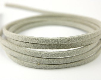 3mm Suede Leather Cord, 5mt 10mt 20mt 50mt Faux Suede Cord, Gray Suede Leather Cord, 3mm Flat Faux Leather, Leather Suede Cord Findings