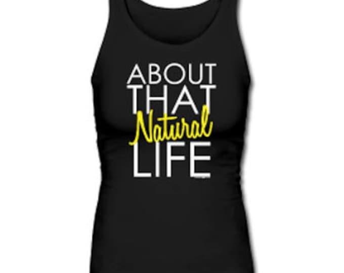 About that Natural Life Women's Premium Tank Top - Black