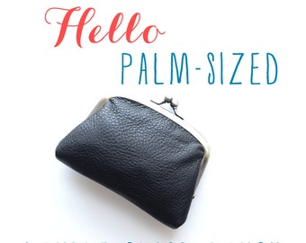 Leather Minimalist Wallet | Double Clasp Wallet | Women's Leather Wallet [Palm Wallet]