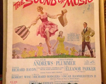 VINTAGE, The Sound of Music, Sheet Music. Starring Julie Andrews by Rodgers & Hammerstein, 1959.