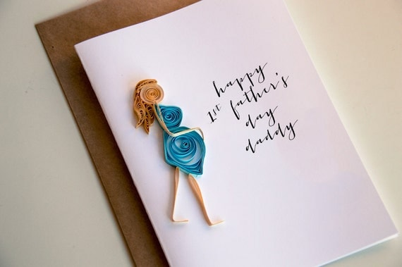 First Fathers Day Card Happy 1st Fathers day Fathers Day