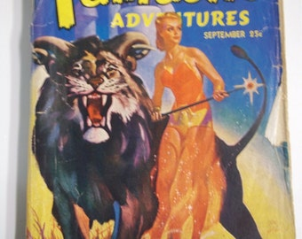 Fantastic Adventures Vol. 4 No. 9 September 1942 Vintage Sci-Fi Pulp Magazine GGA